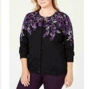 Karen Scott XL Purple Dynasty Sweater 9BI40
